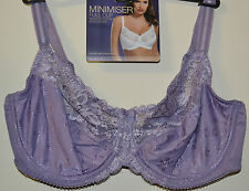 LADIES M&S MINIMISER BRA - FULL CUP - UNDERWIRED - SOFT VIOLET - SIZE 36E - NEW