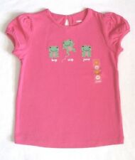 Gymboree Bright Tulip Shirt Size 2T Pink Frog Tee Top Girls New