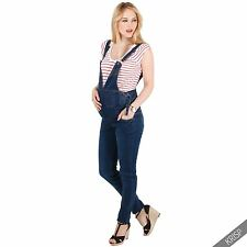 Maternity Pregnancy Stretch Over Bump Jeans Overalls Vintage Dungarees Trousers