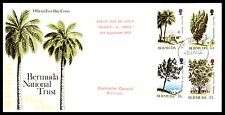 1973 Bermuda National Trust Trees Fdc Unsealed Ua