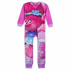 Trolls Dreamworks Girls Fleece Onesie Pjs Pyjamas - Various Age Sizes 4 5 6 & 8