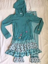 Naartjie 2 pc Whimsical Sparkle Hooded Dress & Layered Leggings Size 10 EUC