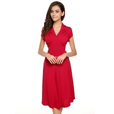 Stylish Cap Sleeve V neck Knee-length Casual Party Dress - Ladies Women