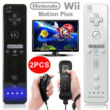 2PCS Built in Motion Plus Remote and Nunchuck Controller for Nintendo Wii&Wii U