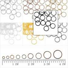 30g Approx120-1860pcs Open Round Jump Rings Connectors Jewellery Findings 3-14mm