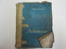 1969 Allison Torqmatic Powershift Transmissions Series 3340 3461 Service Manual