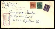 DAYTON PA MAY 31 1951 REGISTERED MAIL COVER WITH PREXIES TO APOLLO