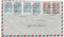 Mozambique Beira to US West Bend Wisconsin 1955 Airmail Cover