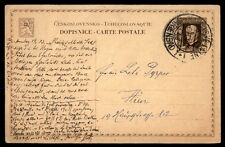 1926 Czechoslovakia Marienbad Postmark Stationery Card To Austria