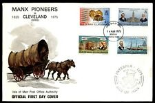 ISLE OF MAN MANX PIONEERS MOVE TO CLEVELAND OHIO INTERPEX CACHET ON OFFICIAL FDC
