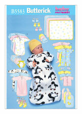 Sewing Pattern for Infants' Bunting, 5583 Baby Butterick NEW Uncut