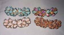 BEAUTIFUL BUTTERFLY GOLDTONE METAL BARRETTE CRYSTALS SELECT COLOR SHIPS FAST