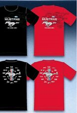MUSTANG FORD T-SHIRT BLACK OR RED THE LEGEND LIVES M-XL22.99+2XL FS NEW