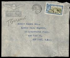 December 6, 1951 Nassau Bahamas 6d rate single franked cover to New York
