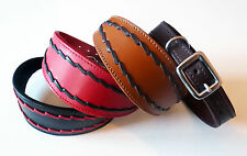 Oval Stitch Leather Whippet Collar Greyhound Collar for Wolfhound Deerhound Dogs
