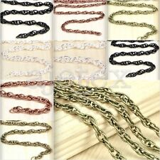 6.56/13.12 feet 2/4m Unfinished Woven Curb Chain Necklace 2.7x0.6/4x0.8mm