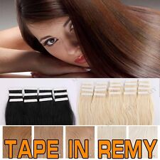 "Fast USPS Brazilian 20-40PC Tape In Real Remy Human Hair Extensions 16-24"" BS254"