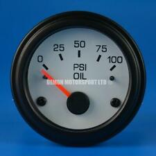 52mm White Face Gauge Only (Pick Your Gauge) Boost Oil Water Volt Fuel EGT AFR
