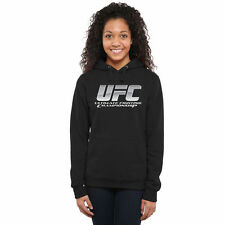 UFC Women's Chrome Pullover Hoodie - Black - MMA