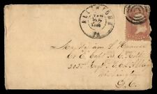 ALLENTOWN PA JAN 27 1865 SINGLE FRANKED COVER TO WASHINGTON DC