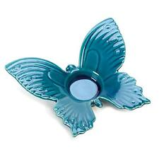 BULK LOTS Teal Butterfly Stoneware Tealight Candle Holders