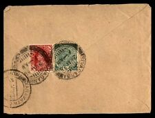India colored franking on cover Ramnad May 3 1938 multifranked