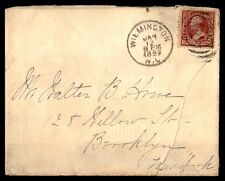 Wilmington Nc Jan 12 1892 Single Franked Cover To Brooklyn Ny W/ Back Stamp