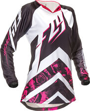 FLY KINETIC GIRLS YOUTH LARGE PINK JERSEY 369-624YL  MOTOCROSS