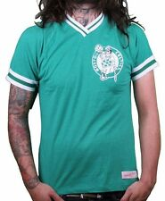 Mitchell & Ness Mens Green White Boston Celtics Hook Shot V-Neck T-Shirt