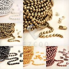 4m 13.12feet Unfinished Chain Necklace DIY Ball Curb Flat Cable Rollo Woven HC