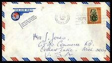 New Zealand August 3, 1965 cover airmail with slogan cancel to Orchard Lake