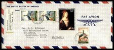 Nigeria airmail cover multifranked to Hollywood California USA