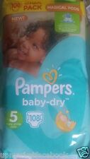 Pampers Baby Dry Giga Pack 108 Nappies Size 5 Magical Pods 11kg-25kg