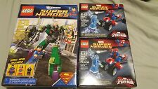 LEGO 6862 & 76014 (x2) Superman vs Power Armor Lex & Spider-Trike vs Electro NEW