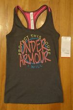 NWT UNDER ARMOUR VICTORY TANK TOP FITTED GRAY GIRLS YOUTH SMALL LARGE
