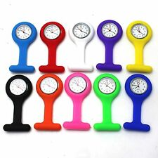 10 Color Silicone Nurse Brooch Fob Pocket Medical Watch Tunic Quartz Movement 2x