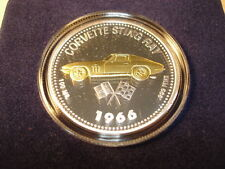 1966 Corvette Stingray Coin Medallion 66 Chevrolet Chevy Sting Ray New in Box