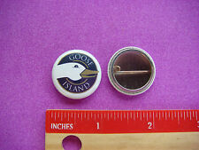 BEER BUTTON Pinback ~ GOOSE ISLAND Brewing Co. ~ Chicago, ILLINOIS Craft Brewery