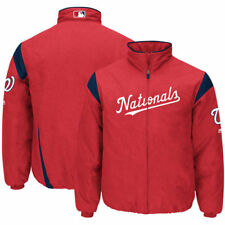 Washington Nationals Majestic On-Field Therma Base Thermal Full-Zip Jacket