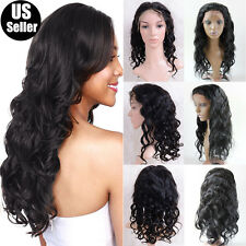 Silk Top Long Straight Hair Wig Virgin Human Hair Full Lace Wigs For Black Women