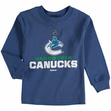 Vancouver Canucks Reebok Preschool Clean Cut Long Sleeve T-Shirt - Blue - NHL