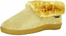 Old Friend Slippers Mens Sheepskin Ankle Bootee Chestnut 421121