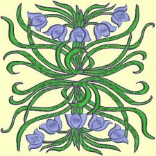 Anemone Quilt Squares 3-DESIGN 5-an Anemone Machine Embroidery single in 4 sizes