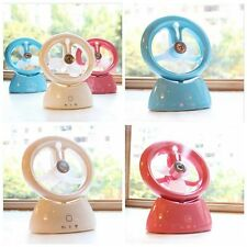 NEW Portable USB Rechargeable Mini Air Cooler Water Spray Misting Fan Humidifier