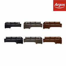 Heart of House at Argos Eton Corner Sofa-Left/Right Hand-Black/Chocolate/Tan