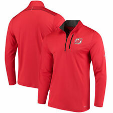 New Jersey Devils Majestic Good Work Half-Zip Pullover Jacket - Red - NHL