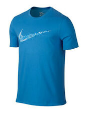 NIKE Mens Dri-FIT Swoosh Topography Training Cotton T-Shirt ** PHOTO BLUE ** NWT