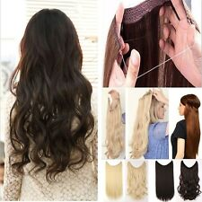 Long Straight Curly Piece Secret Wire Hair Piece Hair Extensions As Human Blonde