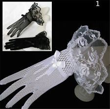 Lace Fishnet Wedding Bridal Gloves Lace Fingered Gloves For Party Wedding TB