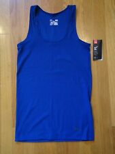 NWT UNDER ARMOUR DARK BLUE TANK TOP FITTED WOMENS LARGE XL